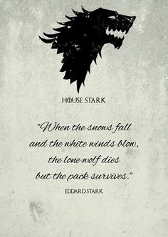 House Stark - Le Trône de fer de Teacuppiranha - Game of Thrones - Game Of Thrones Tattoo, Frases Game Of Thrones, Tatouage Game Of Thrones, Art Game Of Thrones, Game Of Thrones Party, Game Of Thrones Funny, Got Quotes Game Of Thrones, Game Of Thrones Wolves, Game Of Thrones Drawings