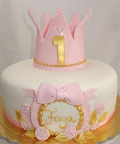 Geburtstagskuchen 1 Geburtstag Mädchen Kuchen Bild Idee