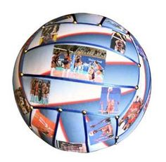 Personalize a volleyball with photos!
