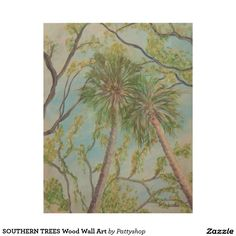 SOUTHERN TREES Wood Wall Art