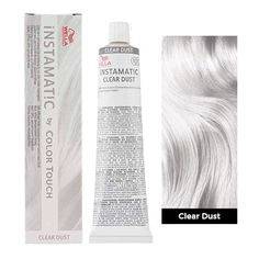 Wella Instamatic (Clear Dust) - All For Colors Hair Silver White Hair, Silver Blonde Hair, Wella Instamatic, White Hair Toner, Permanent Hair Color, Demi Permanent, Pelo Color Plata, No Yellow Shampoo, Ice Blonde Hair