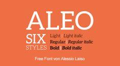 Free Font Aleo