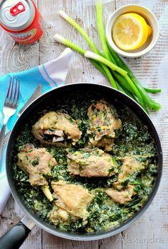 Αρνάκι φρικασέ με σπανάκι Meat, Chicken, Cooking, Kitchen, Recipes, Greek Beauty, Foods, Movies, Kitchens