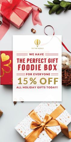 Looking for a gift for someone who loves food and travel? We have the perfect solution! Save 15% on all gifts with promo code DEC15