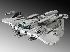Gavel Gunship with Squire Snub Fighters