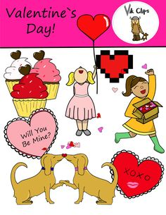 Need some cute Valentine's Day clipart for your lesson materials? Check out this set on my TPT store!