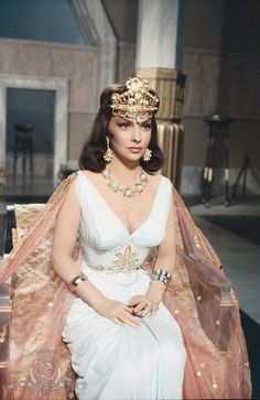 Gina Lollobrigida in Solomon and Sheba, I've never seen the movie but she does make a beautiful queen!