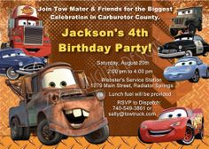 Mater Birthday Invitations Tow Mater by LifesDigitalDesigns, $14.00