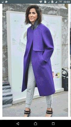 Фиолетовое и стеганые джегинсы