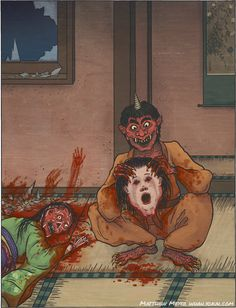 A-Yokai-A-Day: Amanojaku Posted on Monday October 19th, 2015 I mentioned at the beginning of the month how I like to start out with the cuter/tamer yokai and move on to the scarier ones near Halloween. Well, the month is getting into its final third, and today's yokai is definitely one of the more grotesque and creepy ones! The story of Uriko hime, which is included on the yokai.com page, is downright horrifying! From here on out, the yokai will start to get creepier.   Amanojaku are a fun…
