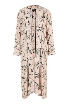 Bamboo Print Duster Coat