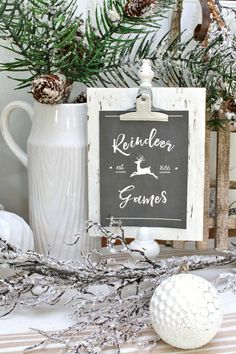 Reindeer Games, 30 Free Christmas Printables via A Blissful Nest