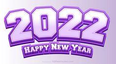 Free Happy New Year 2022 Purple Background