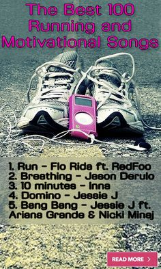 The Best 100 Running and Motivational Songs - LifeLivity One Song Workouts, Short Workouts, Workout Songs, Running Workouts, Running Tips, 100 Running Songs, Weight Loss Motivation, Fitness Motivation, Motivational Songs