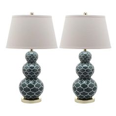 Morocco Table Lamp in Marine Blue (Set of 2)