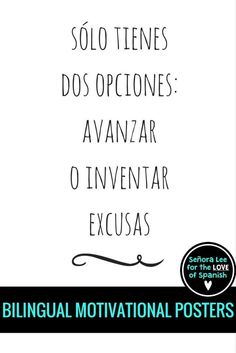 """FREE! Bilingual Motivational Poster 
