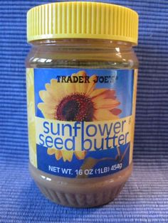 Sunflower Seed Butter - a safe (nut-free) & nutritious snack to pack into the lunch box. Is packed with protein and Vitamin E, and it has a texture and consistency similar to peanut butter, so there's nothing unusual for kids to get used to.