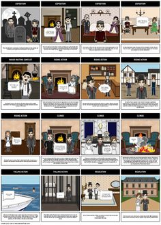 Great Expectations Summary Storyboard by rebeccaray Great Expectations Characters, Plot Diagram, Teaching English Grammar, Digital Storytelling, Story Arc, English Literature, British, Lesson Plans, Literacy