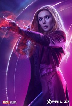 Avengers Infinity War Character Posters - Scarlet Witch