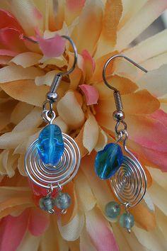 Raindrop earrings by bexybeads, via Flickr