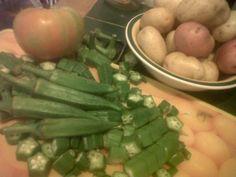 Okra  with cornmeal