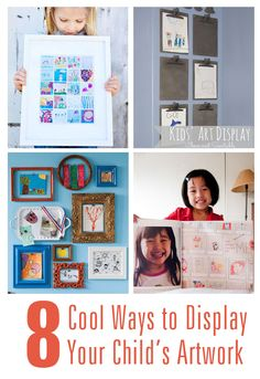 8 Cool Ways to Display Your Child's Art.