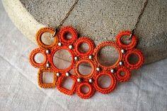 crochet necklace by Lavender Field via Etsy.