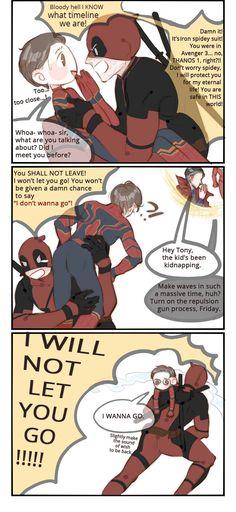 deadpool tryin to rescue spidey in avengers 3 😙 Peter Spider-Man Deadpool X Spiderman, Deadpool Funny, Funny Marvel Memes, Marvel Jokes, Marvel Dc Comics, Marvel Avengers, Funny Avengers, Marvel Art, Batman