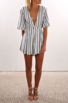 Amalfi Playsuit | Womens | Jean Jail Clothing, Shoes & Jewelry : Women : Clothing : Jeans : outfits http://amzn.to/2l7Yifa