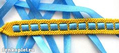 Ribbons in Traditional Knotted Friendship Bracelet