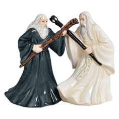 LotR Gandalf and Saruman Salt and Pepper Shakers - Westland Giftware - Hobbit / Lord of the Rings - Kitchenware at Entertainment Earth