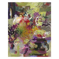 Title: Flamenco Sketches-Miles Davis painted interpretation. 48x60x2