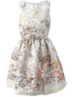 RED VALENTINO - printed sleeveless dress