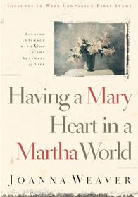 I struggle with balance. I think I may have multiple personalities. My pendulum swings from completely lazy to frantically busy. Somewhere in the middle, there must be a happy medium. That's why I read Having a Mary Heart in a Martha World by Joanna Weaver. I was hoping she would show me how to sit … … Continue reading →