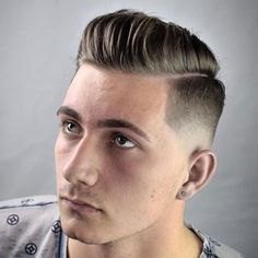 Low Fade + Hard Part Comb Over