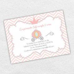 Invitación Imprimible Cumpleaños Princesa Niña. By Invitation Only Shop