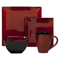 "I LOVE THIS SHAPE & COLOR! THIS ""POPPY"" SET IS PERFECT FOR THE PUNCH OF RED I'M WANTING TO ADD TO MY KITCHEN /DINING ROOM! IT'LL TOTALLY MATCH EVERYTHING I ALREADY OWN! Threshold™ 16 Piece Elemental Poppy Dinnerware Set"