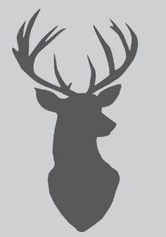 cerf au pochoir carte modèle scandinave nordique de conception de plaque pochoirs Mylar silhouette chic cerf chevreuil