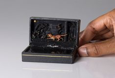 Toronto-based artist Talwst, using unexpected but effective media, has created fascinating series of miniature historic dioramas inside of vintage ring box