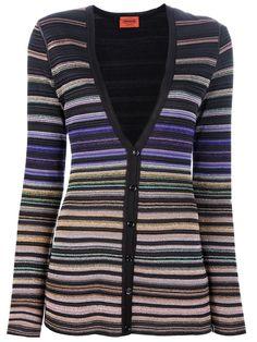 Missoni - striped knit cardigan.