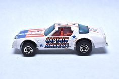 Vintage Hot Wheels Captain America Hot Bird, Pontiac Firedbird Trans-Am , Marvel Comics, Hong Kong, Die-cast Toy Car Collection by RememberWhenToys on Etsy Vintage Toys For Sale, Hot Wheels Display, Vintage Hot Wheels, Toy Sale, Classic Toys, Old Toys, Old And New, Captain America, Diecast