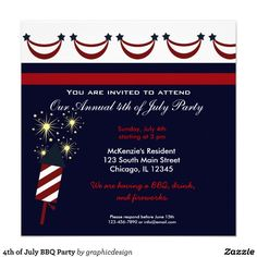 Sold this #4thjuly #birthday invitation to OH. Thanks for you who purchased this.