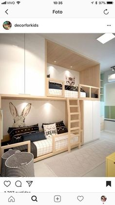 Great baby room ideas for parents to use in their .- Tolle Babyzimmer-Ideen für Eltern zur Verwendung in ihrem Dekor Great baby room ideas for parents to use in their decor - Girl Room, Girls Bedroom, Bedroom Decor, Baby Room, Bedrooms, Bedroom Ideas, Child Room, Bunk Rooms, Bunk Beds