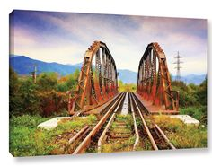 Iron Bridge by Dragos Dumitrascu Photographic Print on Wrapped Canvas