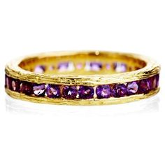 Check out this item at One Kings Lane! Grace Stack Ring, Amethyst &18-kt Gold