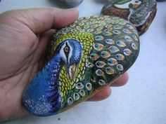 Rockpainting - Peacock 0001b