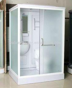 Tiny Bathrooms, Amazing Bathrooms, Shower Pods, Portable Bathroom, Luxury House Plans, Tiny Living, Prefab, Locker Storage, Showers