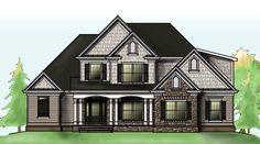 Blueridge House Plan | Craftsman Style Home Plan | Floor Plan