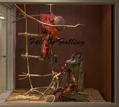 Fall Windows 2014 Visual Merchandising Arts, School of Fashion at Seneca College. Like the branch ladder...