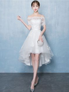 off shoulder tulle short prom dress, bridesmaid dress from of girl White off shoulder tulle short prom dress, bridesmaid dress, white tulle lace short formal dress Best Formal Dresses, Short Dresses, Homecoming Dresses, Bridesmaid Dresses, Wedding Dresses, Birthday Dresses, Birthday Dress Women, Short Prom, Ladies Dress Design